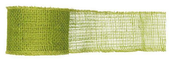 Ruban jute - 8 cm x 10 m, vert