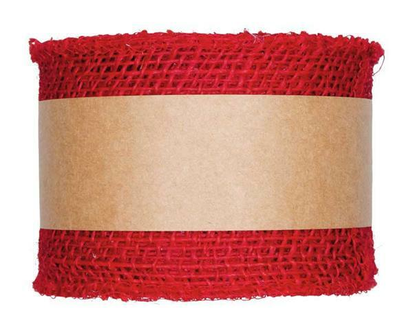 Juteband - 8 x 1000 cm, rood