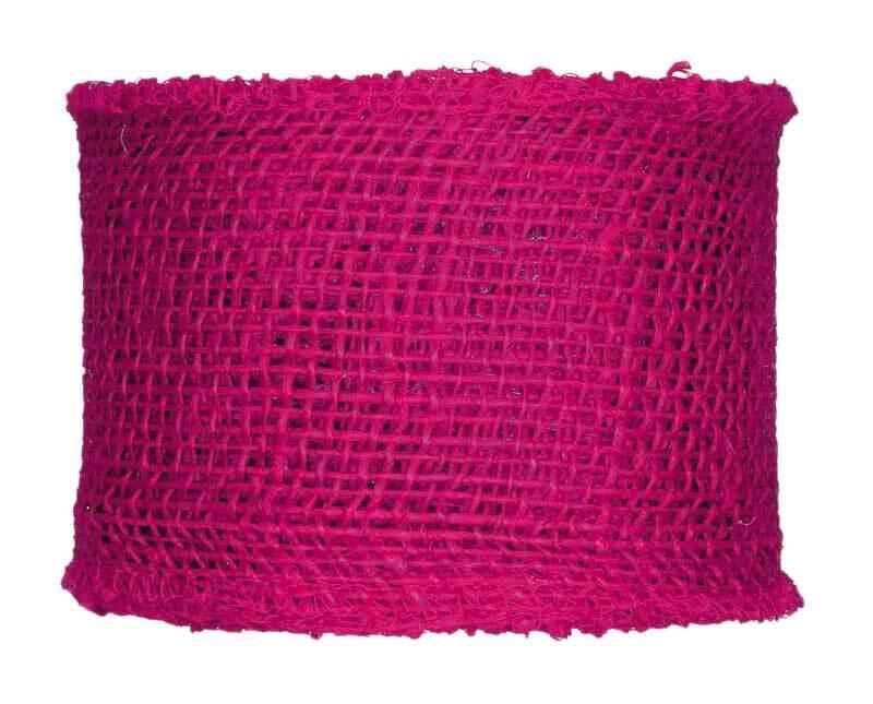 Juteband - 8 x 1000 cm, pink