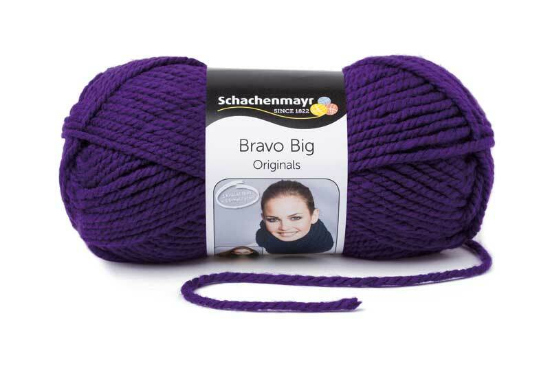 Wolle Bravo Big - 200 g, violett