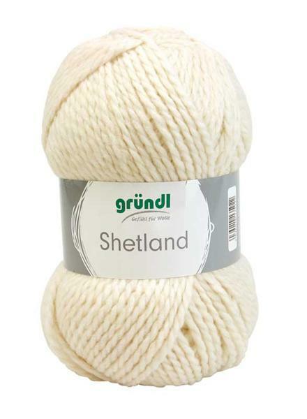 Wolle Shetland - 100 g, creme melange