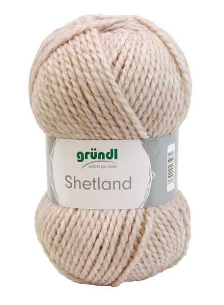 Wolle Shetland - 100 g, mocca melange