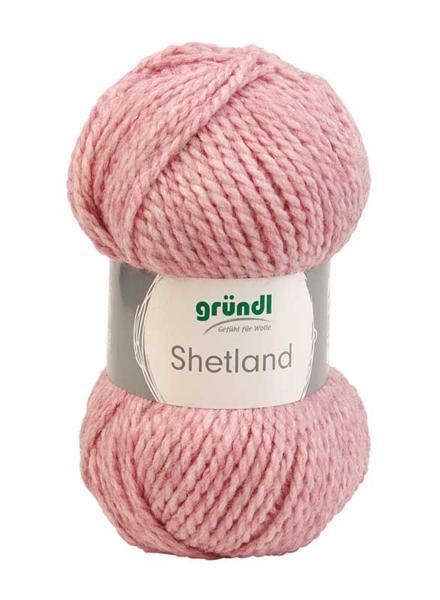 Laine Shetland - 100 g, mélange rose