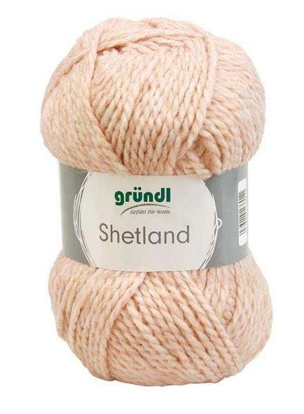 Shetland wol - 100 g, zalm-oranje melange