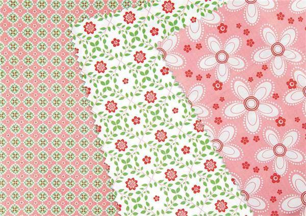Stoff Set - rosa grün