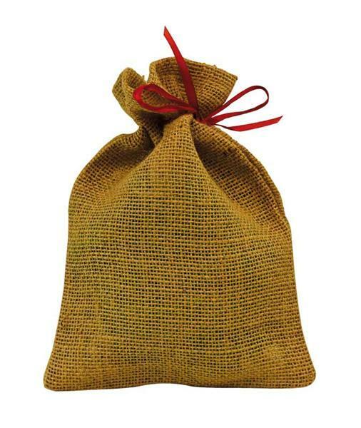 Petits sacs de jute - naturel, 25 x 17 cm