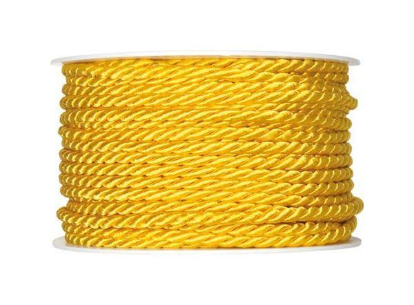 Kordel - Ø 4 mm, gelb