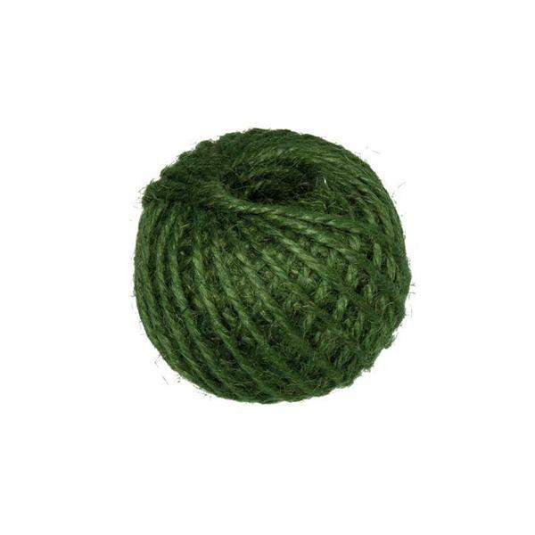 Corde jute - Ø 3 mm, vert mousse