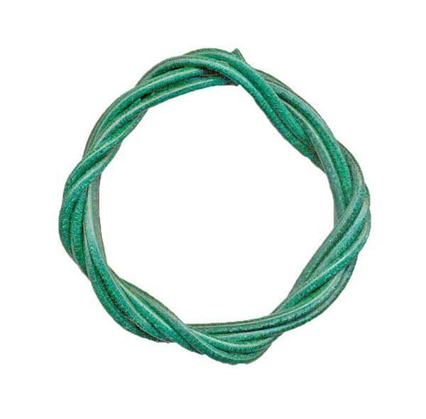 Lanière en cuir ronde - env. Ø 1,5 mm,  vert foncé