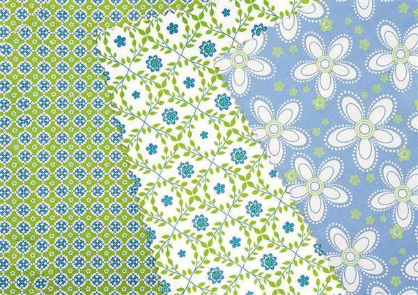 Set de tissus, bleu-vert
