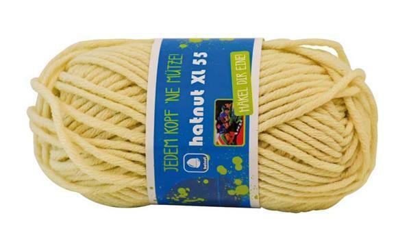 Wolle hatnut XL 55 - 50 g, creme