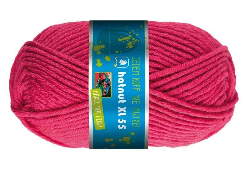 Wol hatnut XL 55 - 50 g, framboos