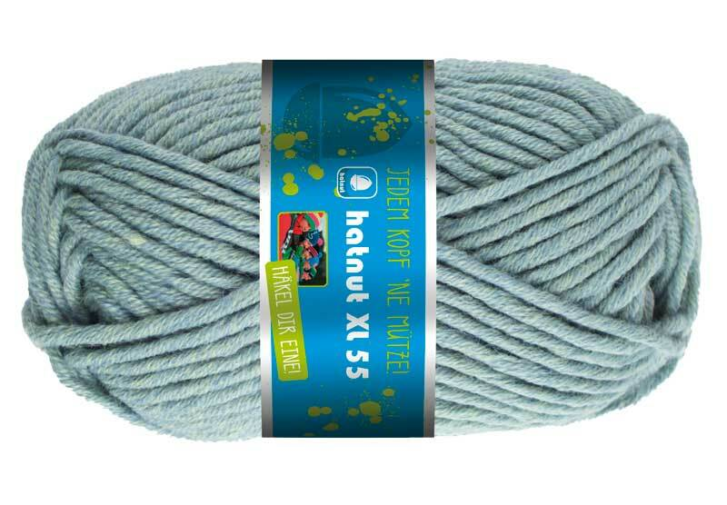 Wol hatnut XL 55 - 50 g, rookblauw