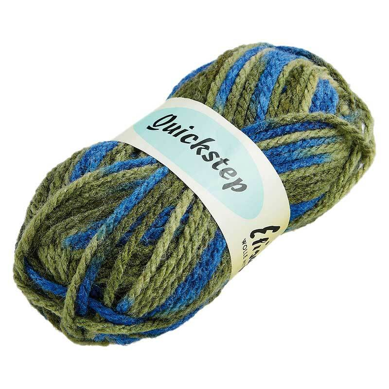 Wolle Quickstep - 50 g, Farbmix grün-blau