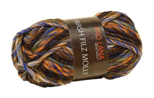 Filzwolle Color - 50 g, blau-grau