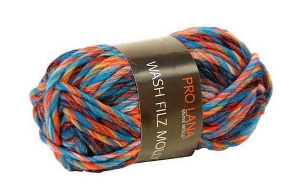 Filzwolle Color - 50 g, petrol-rost