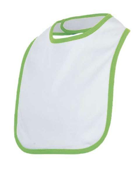 Bavoir de bébé - 22 x 32 cm, blanc/vert