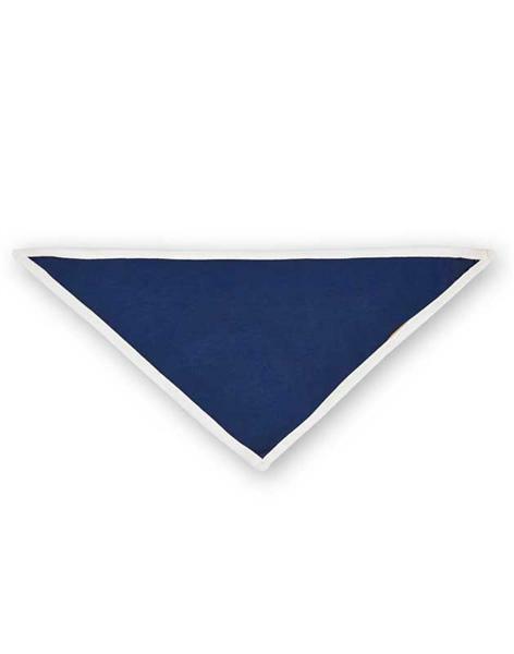 Bavoir bandana - 32 x 20 cm, blanc/navy
