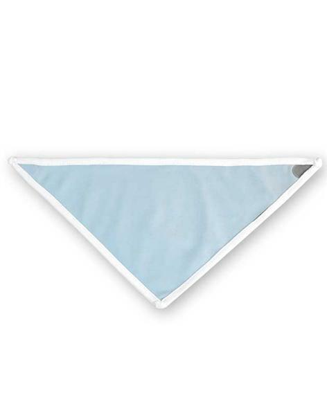 Bandana slabbetje - 32 x 20 cm, wit/lichtblauw