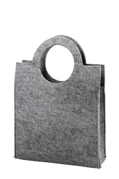 Filztasche - 28 x 40 x 9,5 cm, Stärke 3 mm, grau