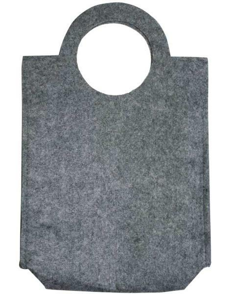 Sac en feutrine - 28 x 40 x 9,5 cm, ep. 3 mm, gris