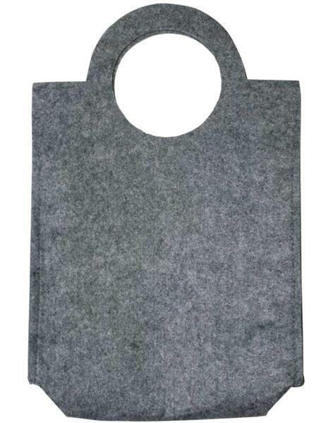 Vilten tas - 28 x 40 x 9,5 cm, dikte 3 mm, grijs