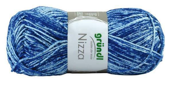 Wol Nizza - 50 g, blauw