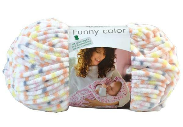 Laine Funny color - 100 g, jaune-rose