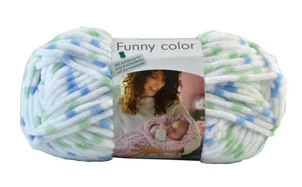 Wolle Funny color - 100 g, grün-blau