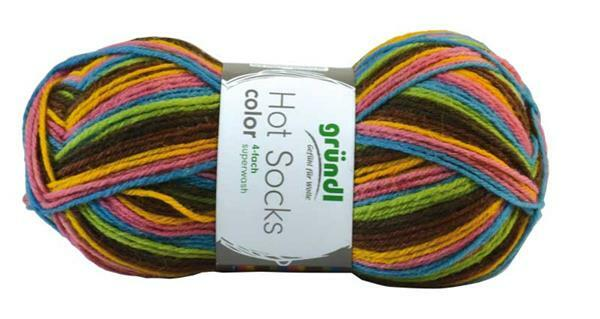 Sokkenwol Hot Socks color - 50 g, bont