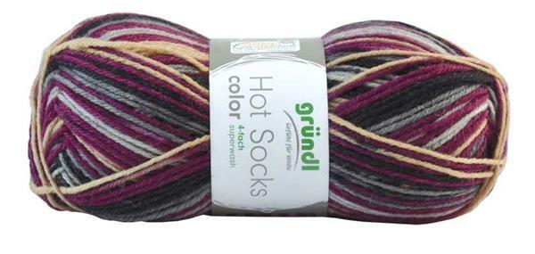 Laine chaussettes Hot Socks color - 50 g, berry
