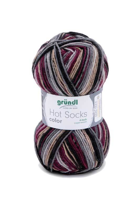 Sokkenwol Hot Socks color - 50 g, bessen
