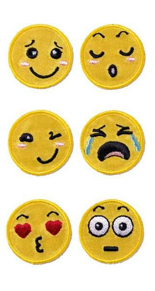 Textil Sticker - Smilies