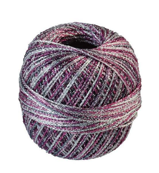Fil à crocheter - 25 g, mélange tons rose
