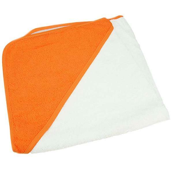 Babydoek - ca. 75 x 75 cm, wit/oranje