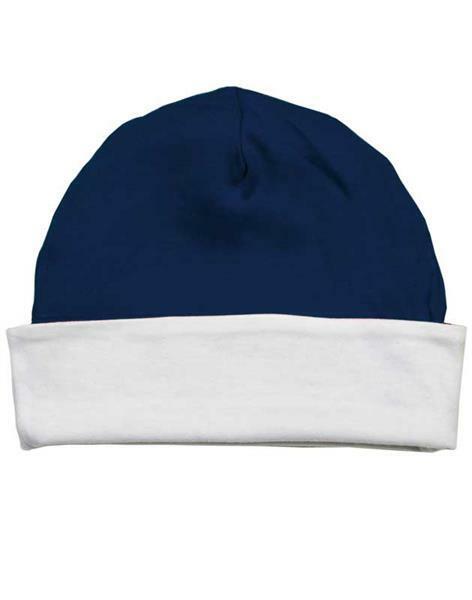 Bonnet bébé - env. Ø 36 cm, blanc/navy