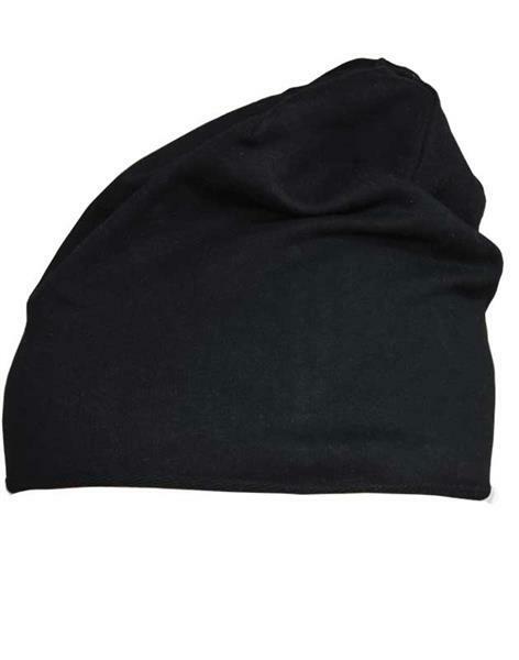 Jersey Beanie Mütze - one Size, schwarz