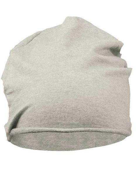 Jersey Beanie Mütze - one Size, grau