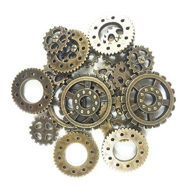 Knopen - gears, ca. 18/25/32 mm, 20 stuks