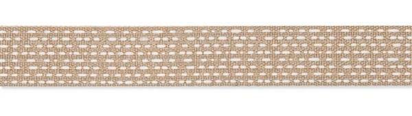 Decoratie lint - 25 m, linnen-crème