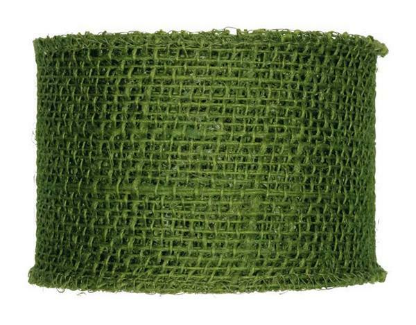 Juteband - 8 x 1000 cm, moosgrün
