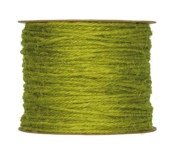 Jute koord - Ø 2 mm, groen