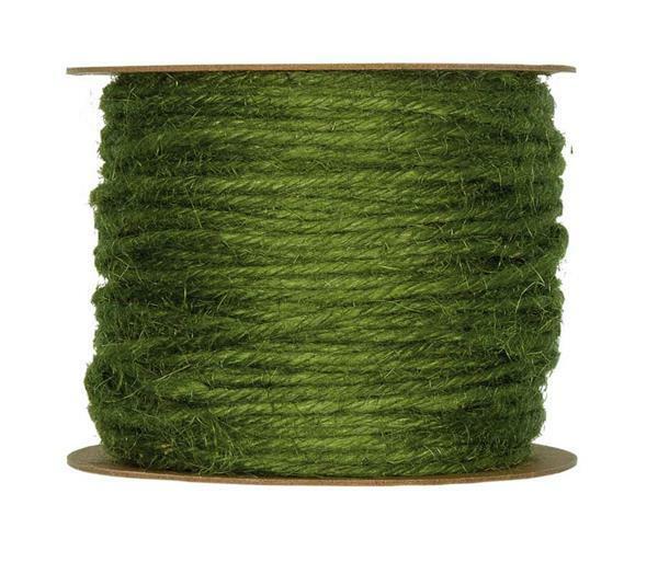 Jutekordel - Ø 2 mm, moosgrün