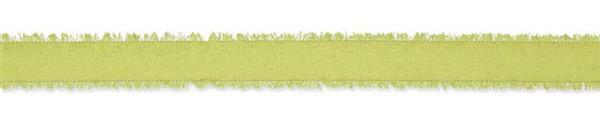 Decoratielint gerafelt - 25 m, groen
