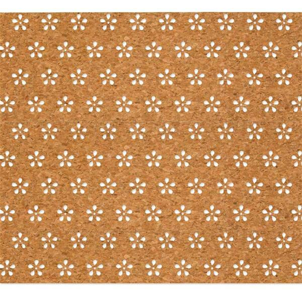 """Kork-Dekostoff """"Blumen"""", 30 x 150 cm"""