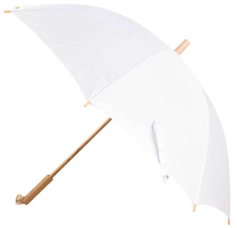 Parapluie-canne - Ø 95 cm, long. 72 cm, blanc