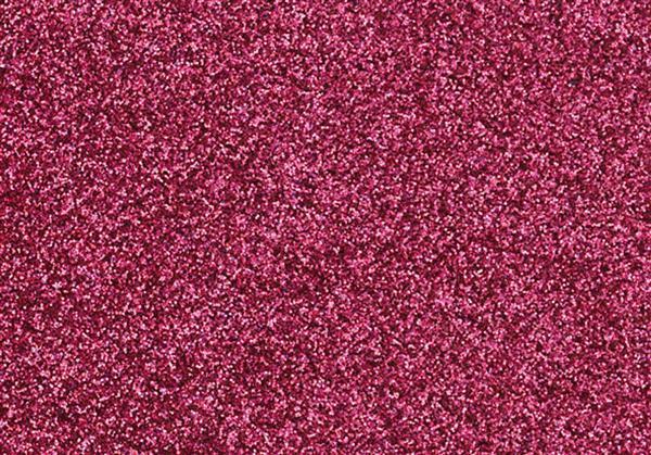 Glitter Bügelfolie - 9 x 16 cm, rosa