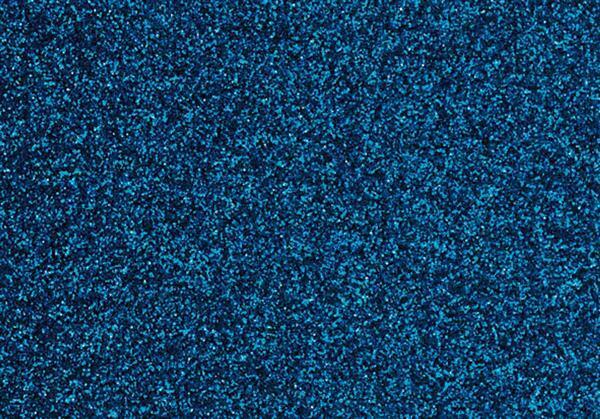 Glitter strijkfolie - 9 x 16 cm, hemelsblauw