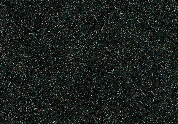 Glitter Bügelfolie - 9 x 16 cm, schwarz