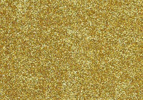 Glitter strijkfolie - 9 x 16 cm, goud